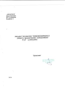 Projekt techniczny - plik pdf