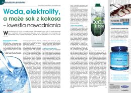 Woda, elektrolity, a może sok z kokosa