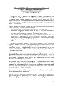 Zalecenia ZHK NIZP-PZH dot. wymagań sanitarno