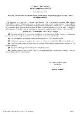 Uchwala Nr VI/54/2015 z dnia 9 kwietnia 2015 r.