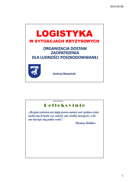 wykład 9 - dr Andrzej Marjański