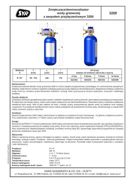 Zmiękczacz/demineralizator wody grzewczej z zespołem