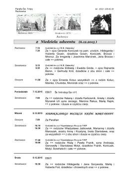 XXIX NIEDZIELA ZWYKLA 20.10.1996
