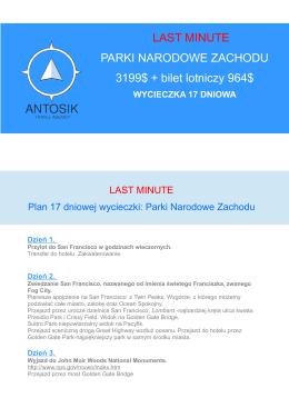 Szczegóły oferty - Antosik Travel Agency