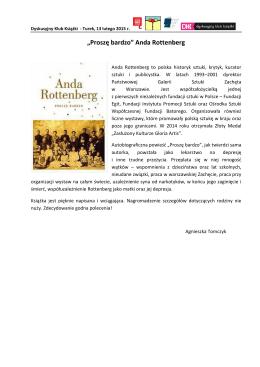 """Proszę bardzo"" Anda Rottenberg"