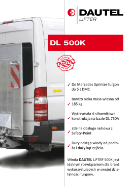Do Mercedes Sprinter furgon do 5 t DMC Bardzo niska