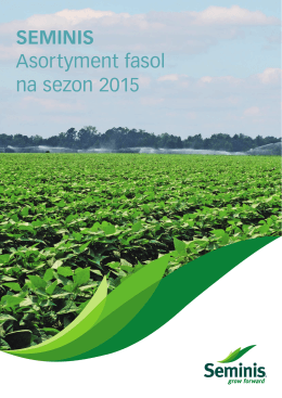 SEMINIS Asortyment fasol na sezon 2015