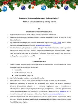 konkurs_bajkowe_święta - Ząbkowicki Ośrodek Kultury