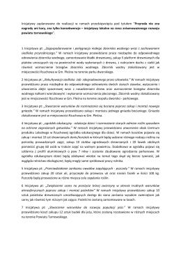Program spotkania - Stowarzyszenie Grupa Odrolnika