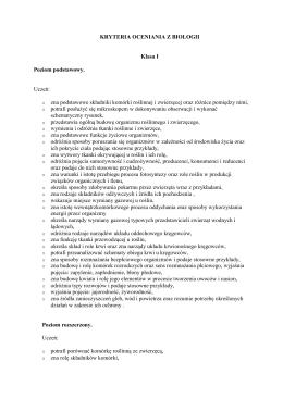 biologia - Gimnazjum nr 28