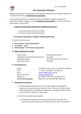 pismo org zgrupowanie w Akrobacji Szybowcowej-pol