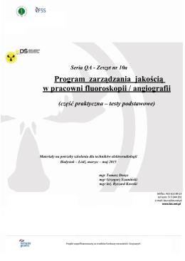 Harmonogram prac podczas wprowadzania i realizacji programu
