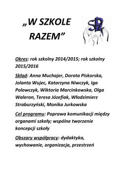 """""""W SZKOLE RAZEM"""""""