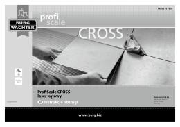 ProfiScale CROSS laser kątowy pl Instrukcja obsługi