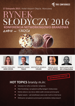 HOT TOPICS branży m.in: