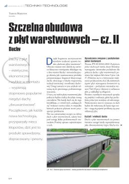 Szczelna obudowa z płyt warstwowych – cz. II