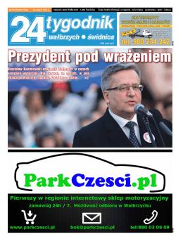 Bronisław Komorowski odwiedził Wałbrzych w