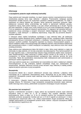 Aufklärungsinformation zur Varizellen-Impfung in Polnisch