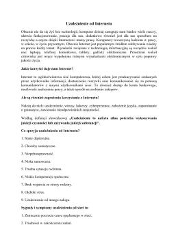 Uzależnienie od Internetu - Witaj na CKZiU Sosnowiec