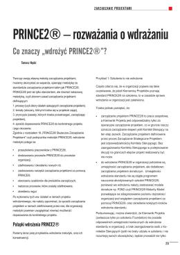 PRINCE2® – rozważania o wdrażaniu