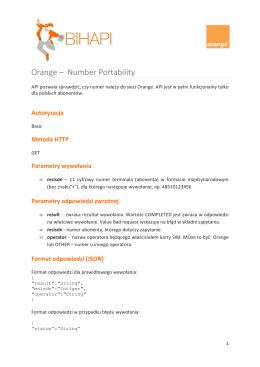 Orange – Number Portability