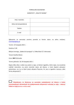 formularz-warsztaty healthy mama