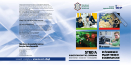 STUDIA - Instytut Optoelektroniki WAT