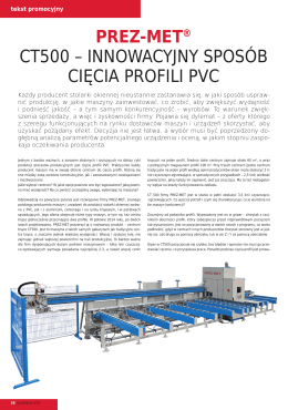 prez-met® ct500 – innowacyjny sposób cięcia profili pvc