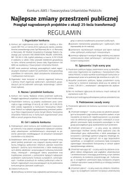 REGULAMIN - AMS dla miast