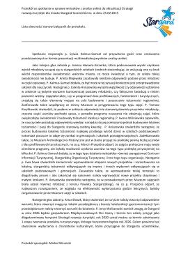Protokół sporządził: Michał Winnicki Protokół ze spotkania w