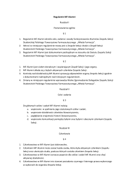 Uchwała z dn. 16 X 2015 Regulamin MF Alumni