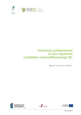 Instrukcja generowania certyfikatu - Platforma Usług Elektronicznych