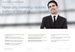 Narracyjny marketing osobisty / personal branding