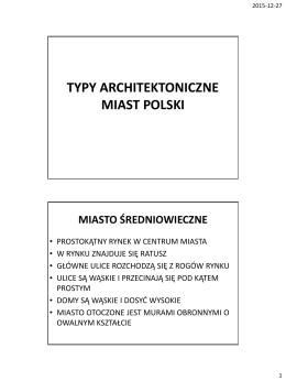 Typy architektoniczne miast w Polsce