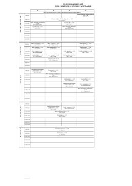 filologia angielska rok i semestr i, studia stacjonarne