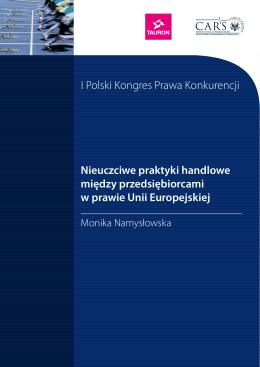 Monika Namysłowska Nieuczciwe praktyki handlowe między