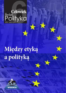 Między etyką a polityką - Wyższa Szkoła Stosunków