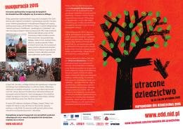 ulotka edd 2015 - Europejskie Dni Dziedzictwa w Polsce