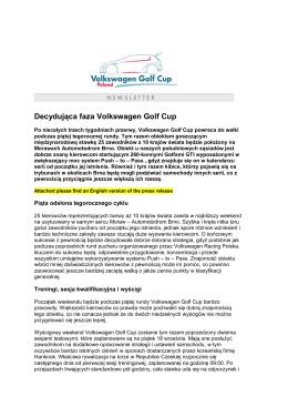 Decydująca faza Volkswagen Golf Cup
