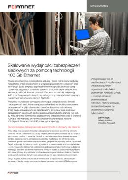 Skalowanie wydajności zabezpieczeń sieciowych za