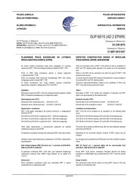 SUP 68/15 (AD 2 EPWR) - Służba Informacji Lotniczej