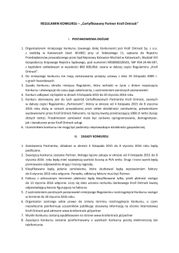 """REGULAMIN KONKURSU – """"Certyfikowany Partner Kroll Ontrack"""""""