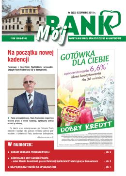 Na początku nowej kadencji - Bank Spółdzielczy w Namysłowie