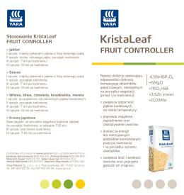 KristaLeaf Fruit Controller ulotka