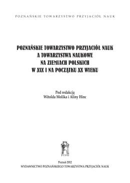 Poznańskie TowarzysTwo Przyjaciół nauk a TowarzysTwa naukowe