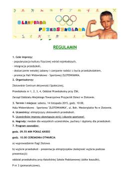III edycja Złotów 2014 REGULAMIN - Przedszkola