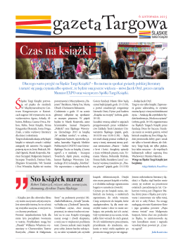 gazeta targowa - Śląskie Targi Książki