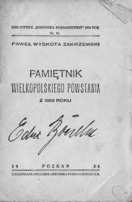 PAMIĘTNIK WIELKOPOLSKIEGO POWSTANIA Z 1863 ROKU