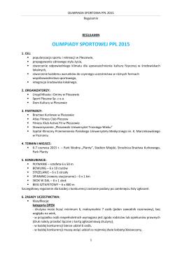 OLIMPIADA SPORTOWA PPL 2015