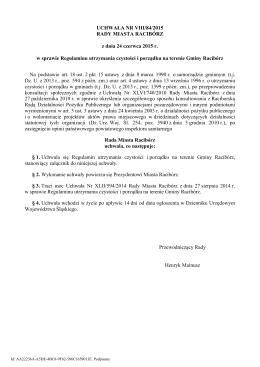 Uchwala Nr VIII/84/2015 z dnia 24 czerwca 2015 r.